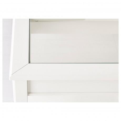 Придиванный столик ЛИАТОРП белый, стекло фото 2