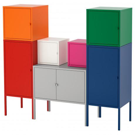 Комбинация д/хранения ЛИКСГУЛЬТ красный/оранжевый/серый розовый/белый, синий/зеленый фото 0