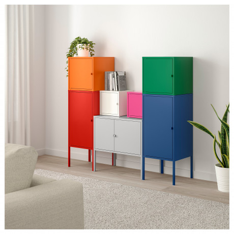 Комбинация д/хранения ЛИКСГУЛЬТ красный/оранжевый/серый розовый/белый, синий/зеленый фото 1
