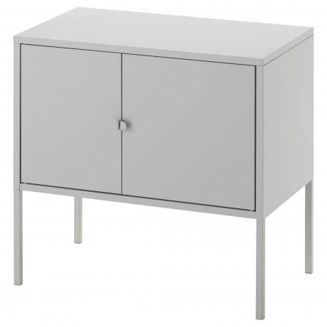 Шкаф ЛИКСГУЛЬТ металлический, серый фото 0
