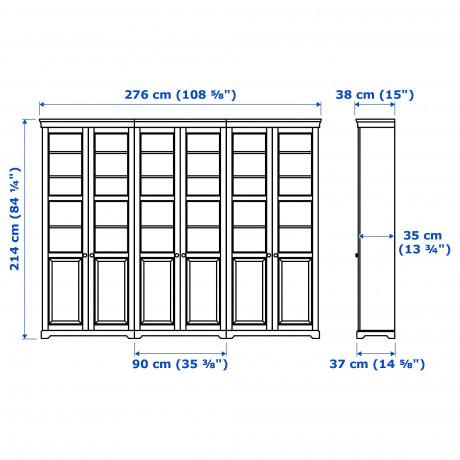 Комбинация для хранения с дверцами ЛИАТОРП белый фото 1