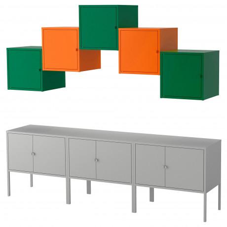Комбинация д/хранения ЛИКСГУЛЬТ серый темно-зеленый, оранжевый фото 0
