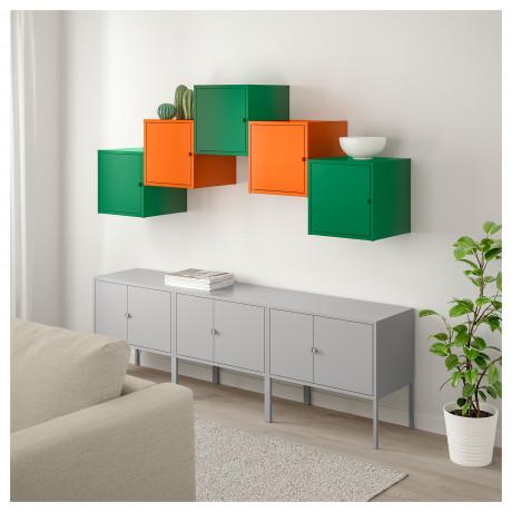 Комбинация д/хранения ЛИКСГУЛЬТ серый темно-зеленый, оранжевый фото 1