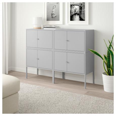 Комбинация шкафов ЛИКСГУЛЬТ серый фото 2