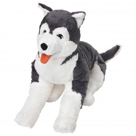 Мягкая игрушка ЛИВЛИГ собака хаски, сибирский хаски фото 0