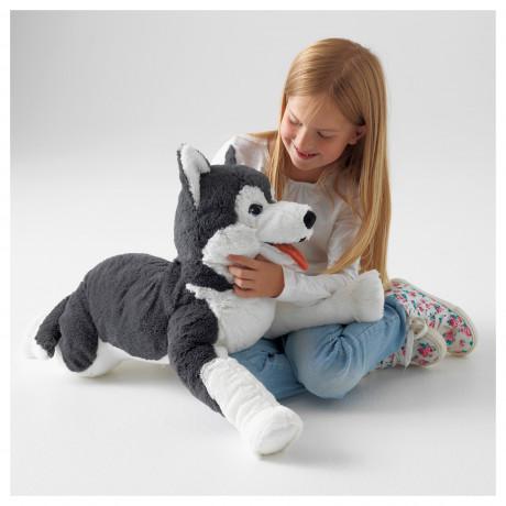 Мягкая игрушка ЛИВЛИГ собака хаски, сибирский хаски фото 1