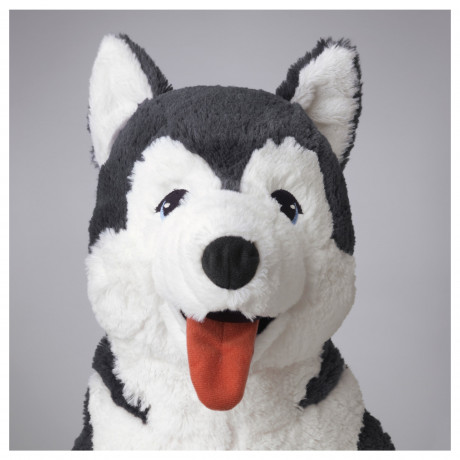 Мягкая игрушка ЛИВЛИГ собака хаски, сибирский хаски фото 2