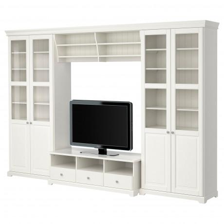 Шкаф для ТВ, комбинация ЛИАТОРП белый фото 0