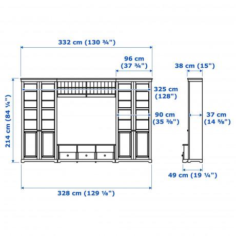 Шкаф для ТВ, комбинация ЛИАТОРП белый фото 1