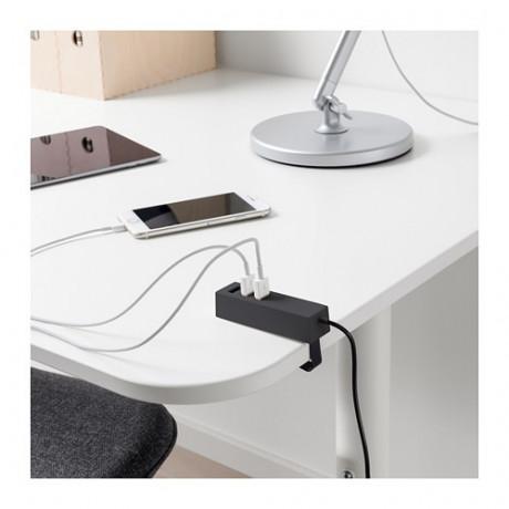 Зарядное устройство USB, с зажимом ЛЁРБИ черный фото 1
