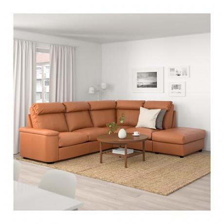 5-местный угловой диван ЛИДГУЛЬТ с открытым торцом, Гранн/Бумстад золотисто-коричневый фото 1