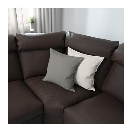Угловой диван-кровать, 6-местный ЛИДГУЛЬТ с козеткой, Гранн/Бумстад темно-коричневый фото 2