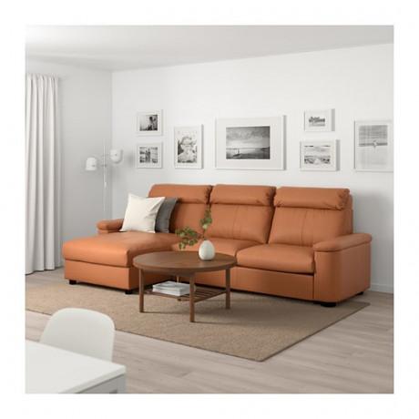 3-местный диван-кровать ЛИДГУЛЬТ с козеткой, Гранн/Бумстад золотисто-коричневый фото 1