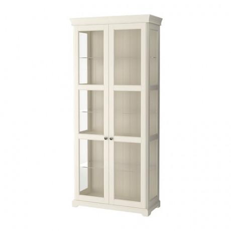 Шкаф-витрина ЛИАТОРП белый фото 0