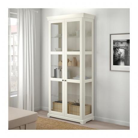 Шкаф-витрина ЛИАТОРП белый фото 1