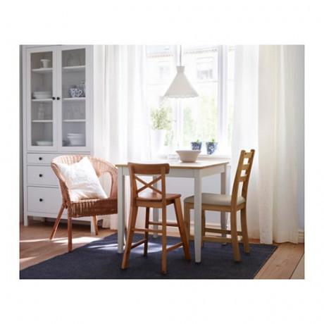 Стол ЛЕРХАМН светлая морилка антик, белая морилка фото 1