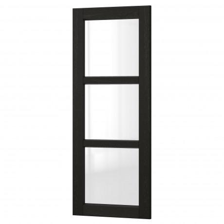 Стеклянная дверь ЛЕРХЮТТАН черная морилка фото 8