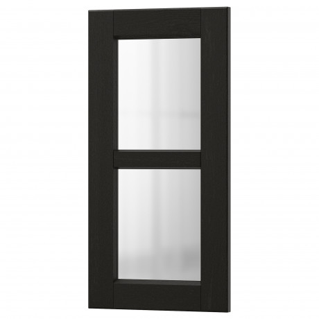 Стеклянная дверь ЛЕРХЮТТАН черная морилка фото 2