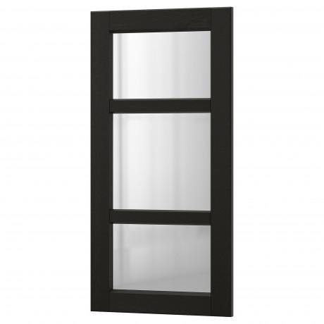 Стеклянная дверь ЛЕРХЮТТАН черная морилка фото 6