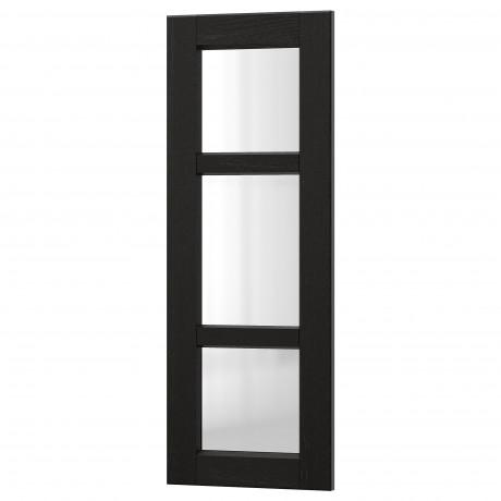 Стеклянная дверь ЛЕРХЮТТАН черная морилка фото 5