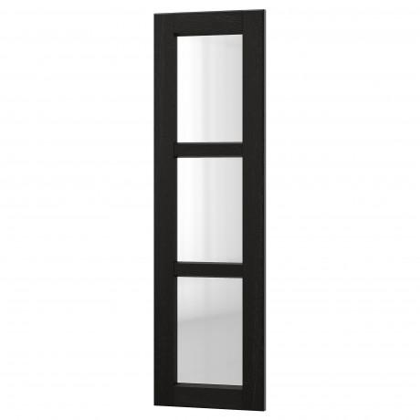 Стеклянная дверь ЛЕРХЮТТАН черная морилка фото 7