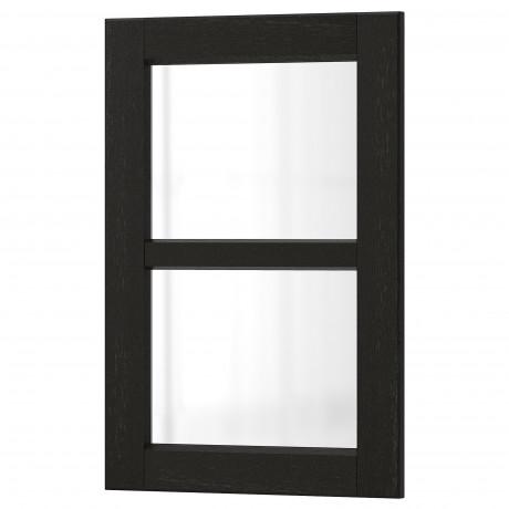 Стеклянная дверь ЛЕРХЮТТАН черная морилка фото 4