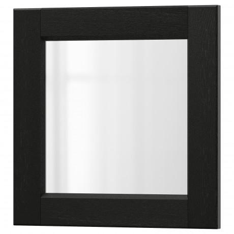 Стеклянная дверь ЛЕРХЮТТАН черная морилка фото 3