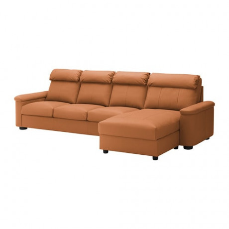 4-местный диван ЛИДГУЛЬТ темно-коричневый фото 4